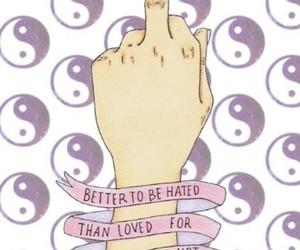 badass, pink, and yin and yang image