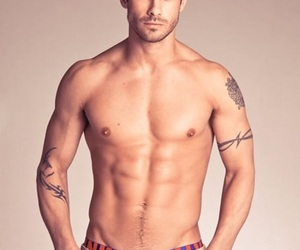 tan, tattoo, and abs image