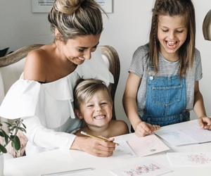 child, family, and girl image