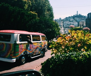 bus, california, and cool image