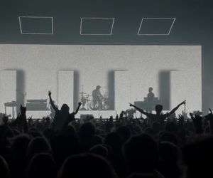black, black and white, and concerts image
