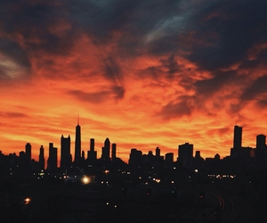 chicago, illustration, and skylines image