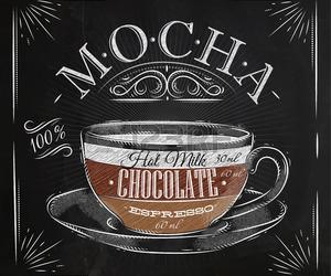 coffee, drawing, and mocha image
