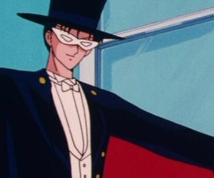 anime, sailor moon, and tuxedo mask image
