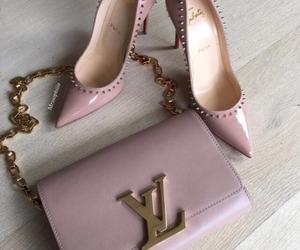 heels, luxury, and pink image