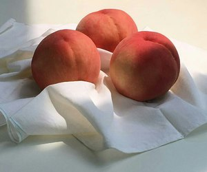 peach, aesthetic, and food image