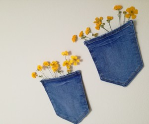 jeans and flowers image