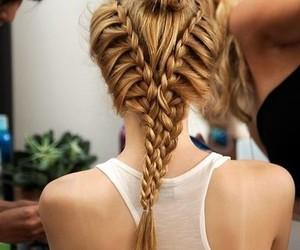 basic, girl, and braids image