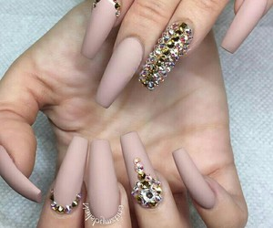 beauty, diamonds, and nails image