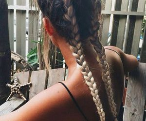 braids, hairstyle, and ombre image