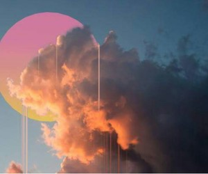 cloudy, cotton candy, and Sunny image