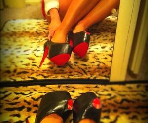 heels, girl, and fashion image