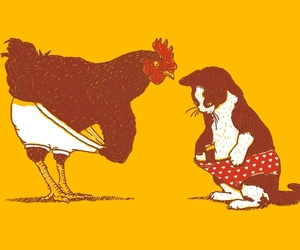 rooster, threadless, and cock image