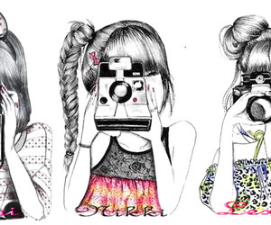 drawing, pretty, and girls image
