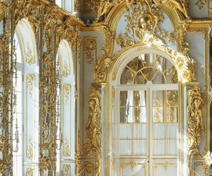 gold, palace, and architecture image