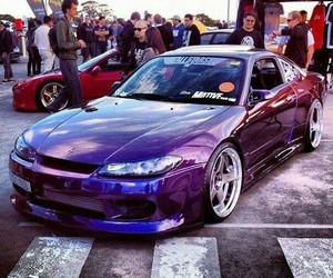 cars, drift, and nissan image