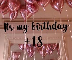 pink, ballons, and 18 birthday image