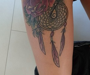 dreamcatcher, liebe, and tattoo image