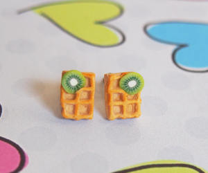earrings, fimo, and hand made image