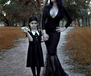 addams family, mother, and halloween makeup image