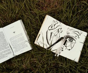 art, book, and nature image