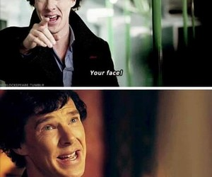 face, sherlock, and smile image