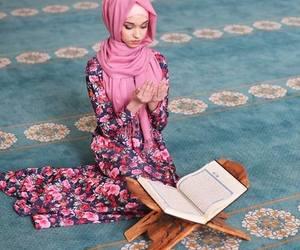 quran, hijab, and muslim image