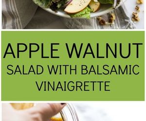 apple, balsamic, and salad image