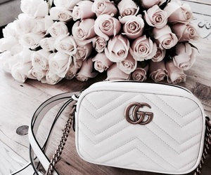 gucci, flowers, and rose image