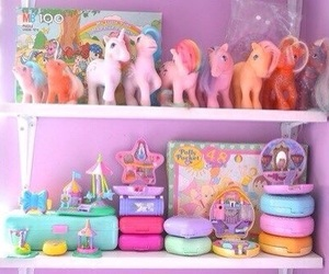 my little pony, polly pocket, and toys image
