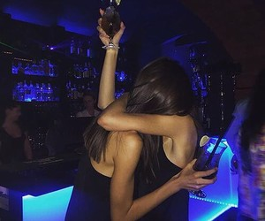 girl, night, and party image