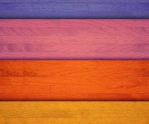 pastel, wood, and rainbow image