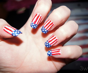 america, hand, and nails image