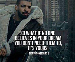 Dream, quote, and goals image
