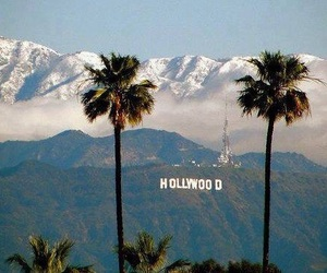 hollywood, los angeles, and mountains image