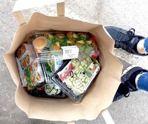 food, sushi, and grunge image