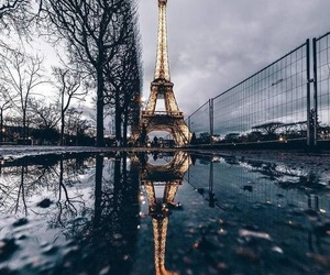 adventure, dark, and eiffel tower image