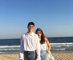 couple, kfashion, and korean image