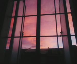 sky, pink, and window image