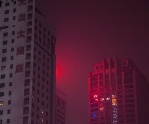 aesthetic, city, and red image