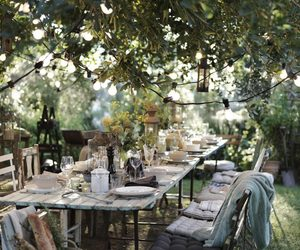 garden and table image
