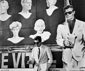 marcello mastroianni, cinema, and Fellini image