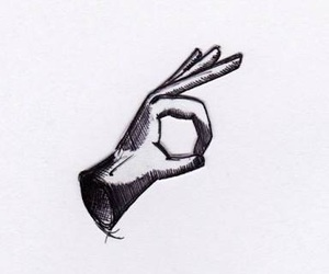black and white, hand, and indie image