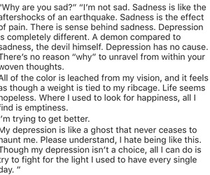 depression, quote, and quotes image