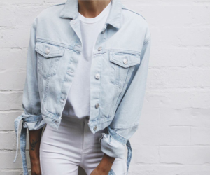 denim, jeans jacket, and white image