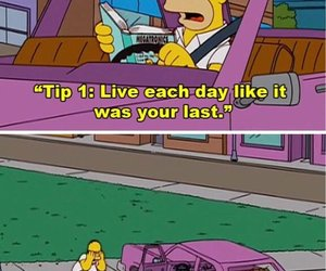 funny, the simpsons, and homer image