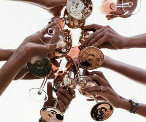 drink, friends, and champagne image