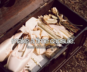 goals, bucket list, and time capsule image