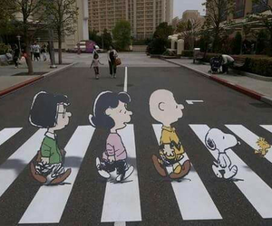 snoopy, charlie brown, and beatles image