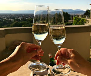 champagne, florence, and holiday image